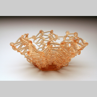 Baskets & Bowls - Unraveling Kiln-Cast lead crystal knitted glass