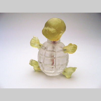 Bombs & Babies - Cheeky Baby Boomer Hot cast & kiln cast glass & copper
