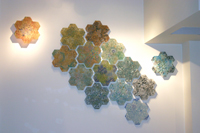 Carol Milne, Tessellations, Garden Tile installation at Meyer/Wells Showroom in Seattle Design Center
